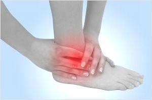足首の前側の痛み