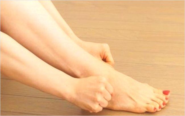 足首のむくみ